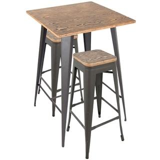 Oregon Rustic 3-piece Pub Set  sc 1 st  Overstock.com & Rustic Bar \u0026 Pub Table Sets For Less | Overstock.com