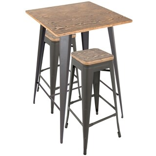 Oregon Rustic 3-piece Pub Set (2 options available)  sc 1 st  Overstock.com & Rustic Bar u0026 Pub Table Sets For Less | Overstock