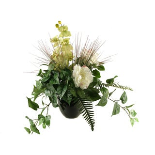 D&W Silks Plants in Round Ceramic Planter
