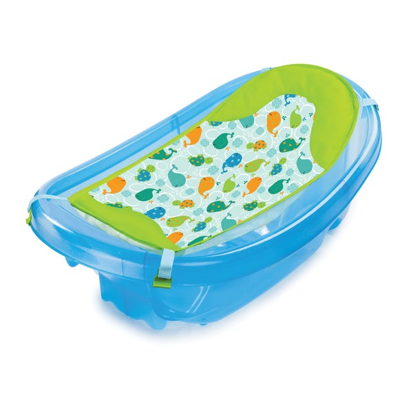 summer infant sparkle n 39 splash blue bath tub free shipping today 17164946. Black Bedroom Furniture Sets. Home Design Ideas
