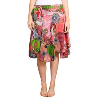 Handmade Playful Uneven Summer Skirt (Nepal)