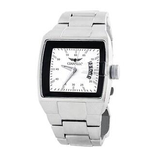 Gianello Men's Metal Bracelet Square Dial Watch