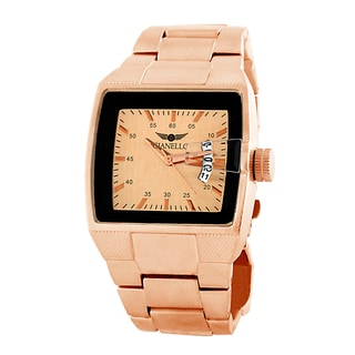 Gianello Men's Rose Goldtone Bracelet Square Dial Watch