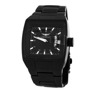 Gianello Men's Black Metal Bracelet Square Dial Watch