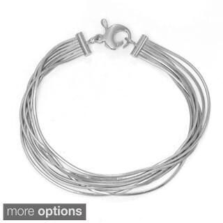 Sterling Silver 7 Strand Snake Chain Bracelet