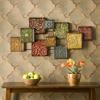Upton Home Mozaic Floral Wall Sculpture (As Is Item)
