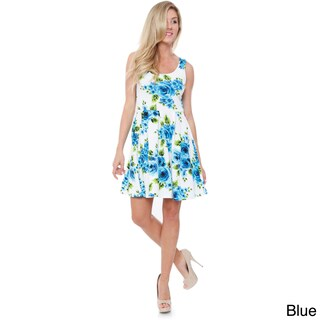 White Mark Women's 'Crystal' Fit & Flare Dress (More options available)
