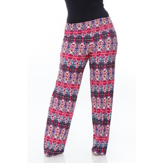 White Mark Plus Size 'Kaleidoscope Craze' Palazzo Pants