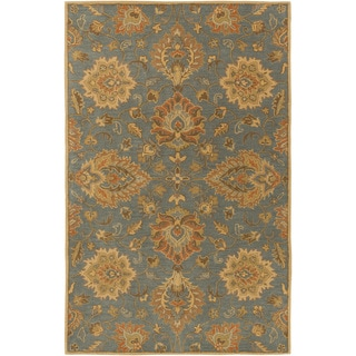 Hand-Tufted Whitby Floral Wool Area Rug - 4' x 6'