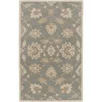 Hand-Tufted Watton Floral Wool Area Rug - 4' x 6'