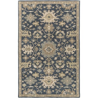 Hand-Tufted Tipton Floral Wool Area Rug - 4' x 6'