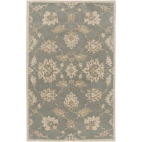 Hand-Tufted Watton Floral Wool Area Rug - 10' x 14'