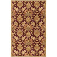 Hand-Tufted Totnes Floral Wool Area Rug - 10' x 14'