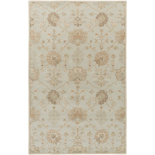 Hand-Tufted Syston Floral Wool Area Rug - 4' x 6'