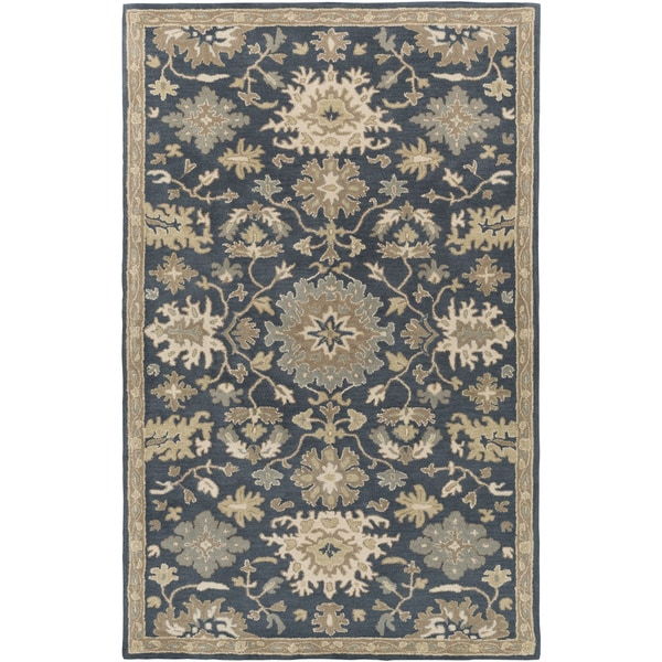 12 10 X 14 11 Persian Karajeh Hand Knotted Wool: Hand-Tufted Tipton Floral Wool Rug (10' X 14')