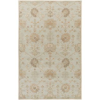 Hand-Tufted Syston Floral Wool Rug (6' x 9')