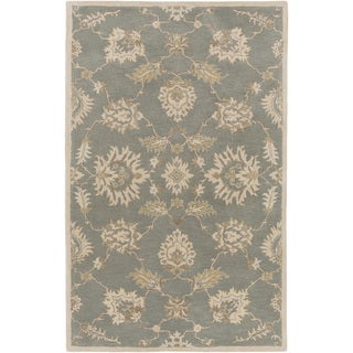 Hand-Tufted Watton Floral Wool Area Rug - 6' x 9'