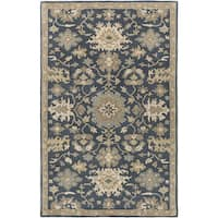 Hand-Tufted Tipton Floral Wool Area Rug - 6' x 9'