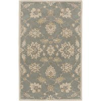 Hand-Tufted Watton Floral Wool Area Rug - 5' x 8'