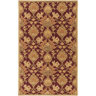 Hand-Tufted Totnes Floral Wool Area Rug - 9' x 12'