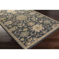 Hand-Tufted Tipton Floral Wool Area Rug - 9' x 12'