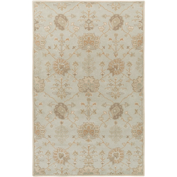 Hand-Tufted Syston Floral Wool Area Rug - 8' x 11'