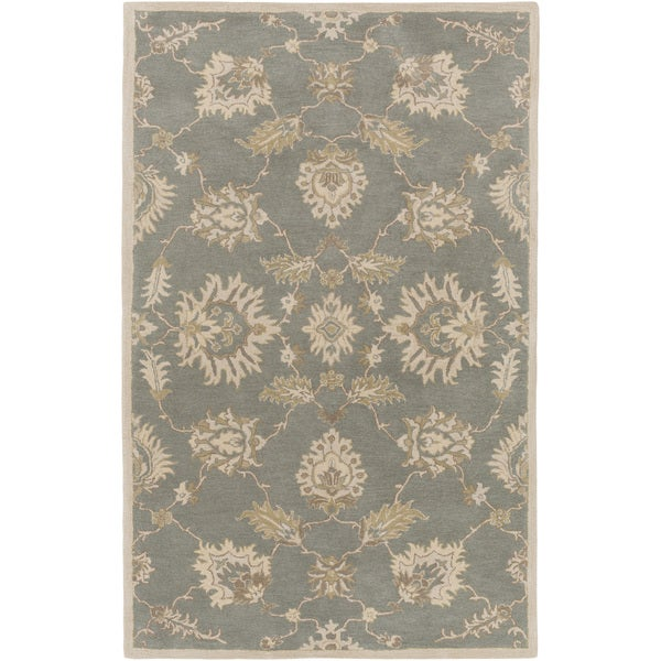 """Hand-Tufted Watton Floral Wool Area Rug - 7'6"""" x 9'6"""""""