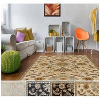 Hand-Tufted Wigton Floral Wool Area Rug - 10' x 14'