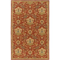 Gracewood Hollow Brooks Hand-Tufted Floral Wool Area Rug (9' x 12')