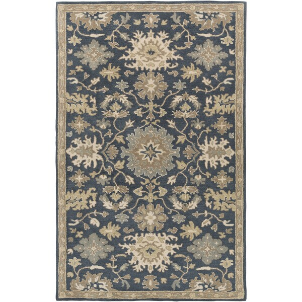 Hand-Tufted Tipton Floral Wool Area Rug