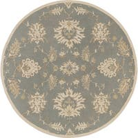 Hand-Tufted Watton Floral Wool Area Rug - 8'