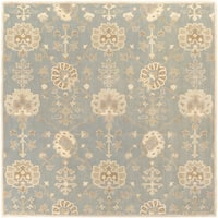 Hand-Tufted Syston Floral Wool Area Rug - 6' Square