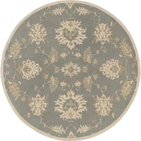 Hand-Tufted Watton Floral Wool Area Rug - 4' x 4'