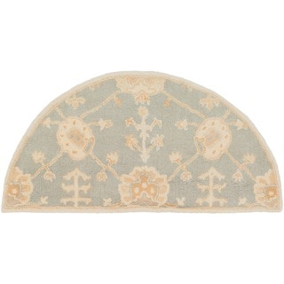 Hand-Tufted Syston Floral Wool Rug (2' x 4' Hearth)