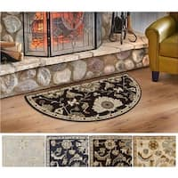 Hand-Tufted Wigton Floral Wool Area Rug (2' x 4' Hearth)