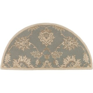 Hand-Tufted Watton Floral Wool Rug (2' x 4' Hearth)