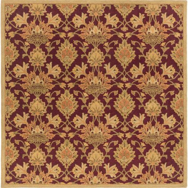 Hand-Tufted Totnes Floral Wool Area Rug - 9'9
