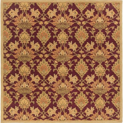 """Hand-Tufted Totnes Floral Wool Area Rug - 9'9"""" Square"""