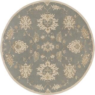 Hand-Tufted Watton Floral Wool Rug (9'9 Round)