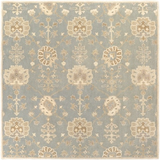 Hand-Tufted Syston Floral Wool Area Rug - 8' Square