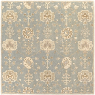 Hand-Tufted Syston Floral Wool Rug (8' Square)