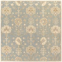 Hand-Tufted Syston Floral Wool Area Rug (8' Square)
