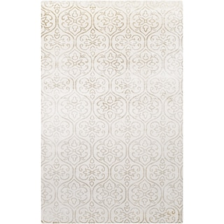 Hand-Loomed Royston Floral Viscose Area Rug - 5' x 8'