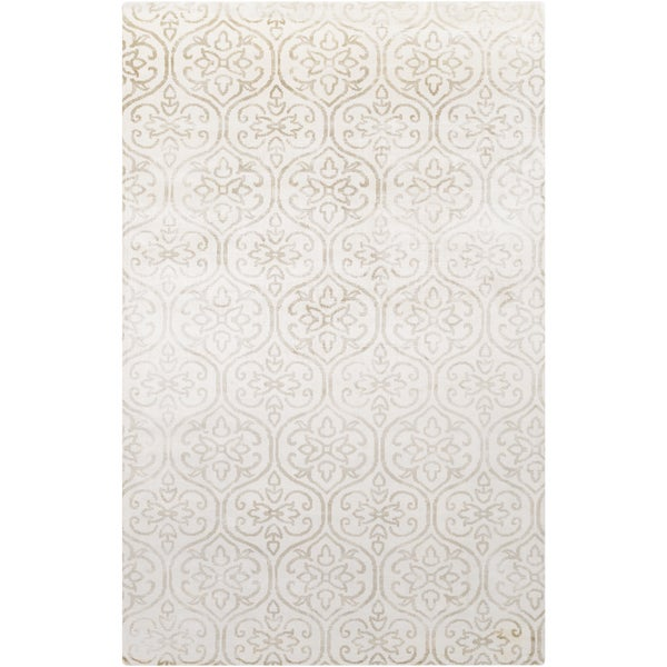 Hand-Loomed Royston Floral Viscose Area Rug (5' x 8')