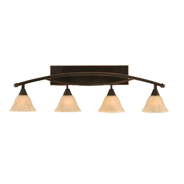 Cambridge 4-Light Black Copper 40 in. Bath Vanity with Italian Marble Glass
