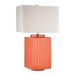 Orange Ceramic 1-light Table Lamp