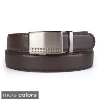 Vance Co. Men's Genuine Leather Adjustable Ratchet Belt|https://ak1.ostkcdn.com/images/products/10018517/P17165385.jpg?impolicy=medium