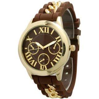 Olivia Pratt Women's Silicone Chain Link Watch