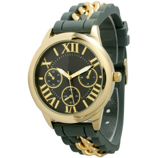 Olivia Pratt Women's Silicone Chain Link Watch