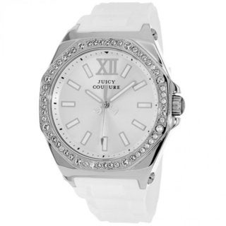 Juicy Couture Women's 1901031 'Rich Girl' White Silicone Watch